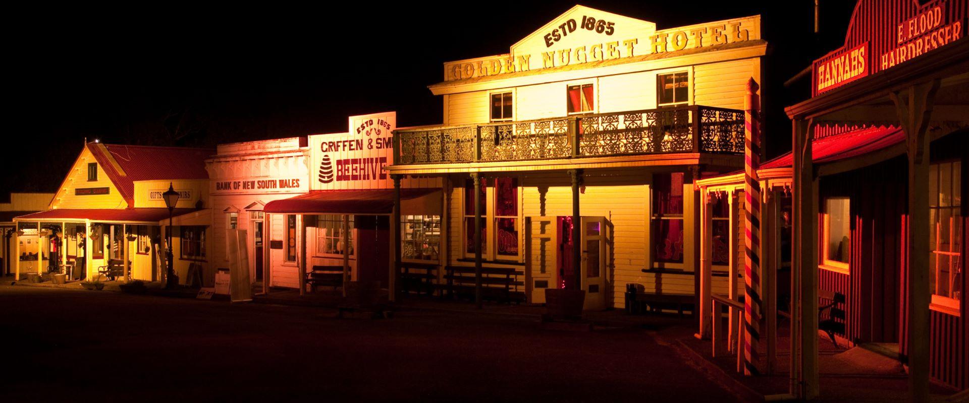 Shantytown at Night