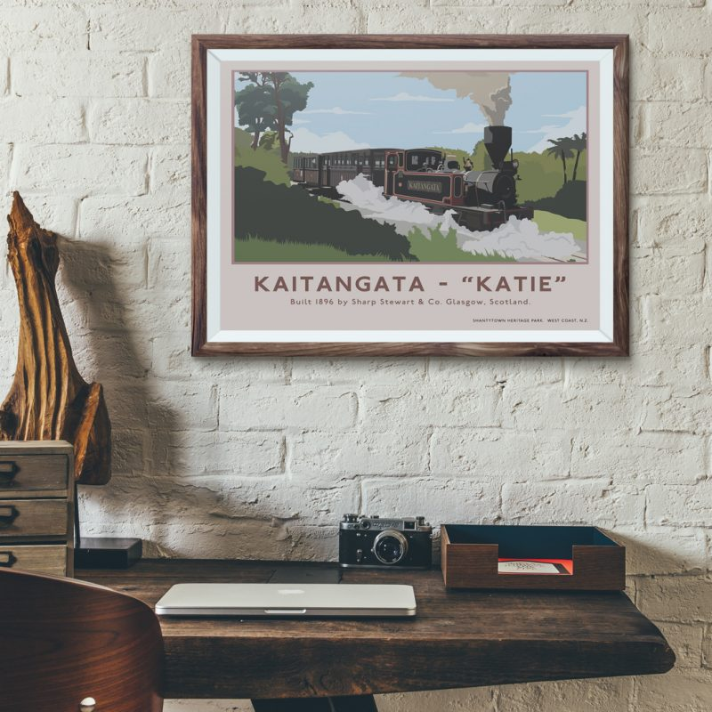 A2 Retro Kaitangata Poster