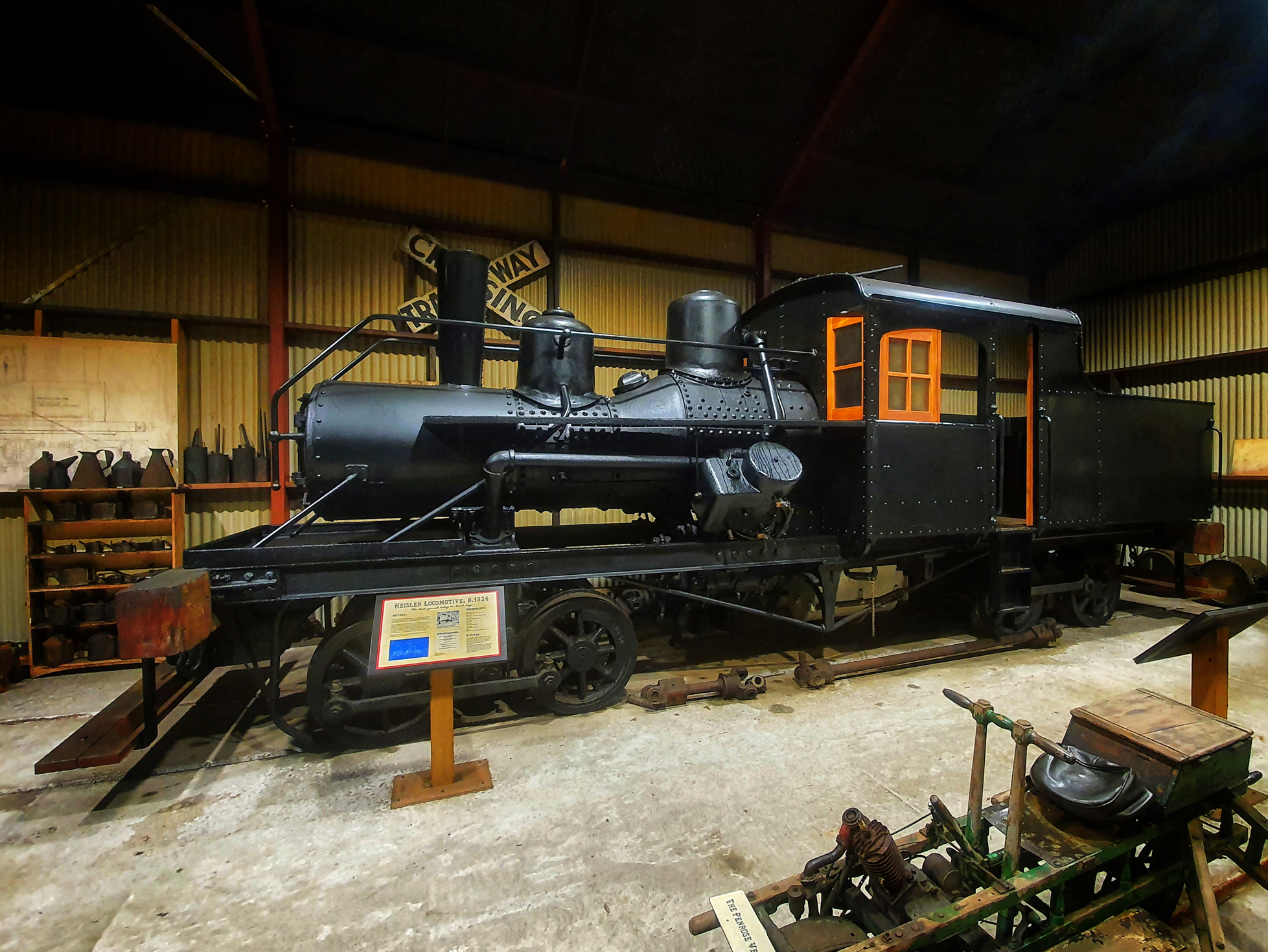 Heisler Steam Locomotive