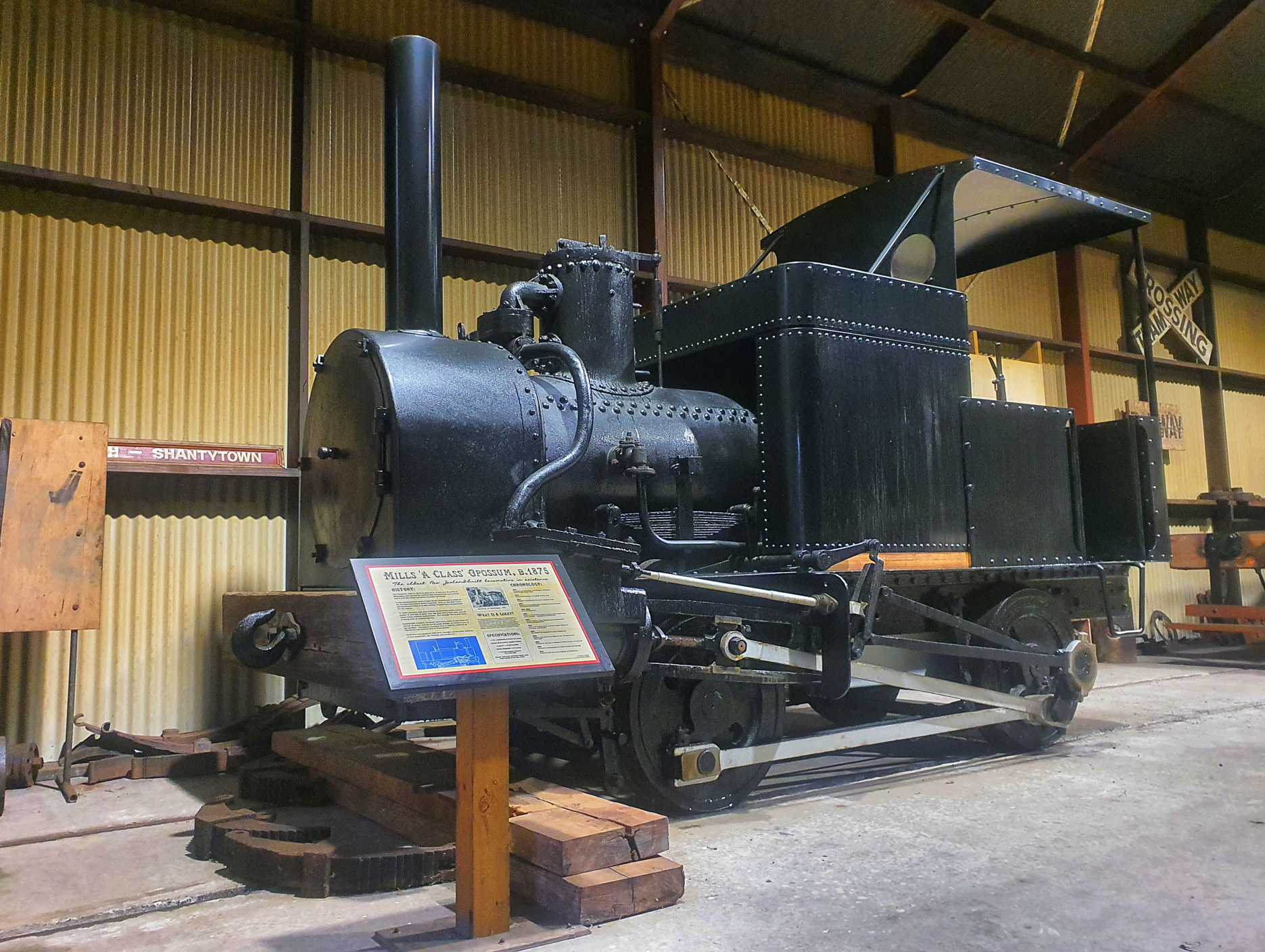 Opossum Steam Locomotive